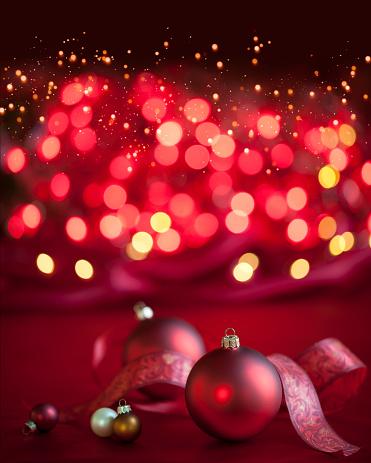 Glitter「Christmas Baubles Background」:スマホ壁紙(2)