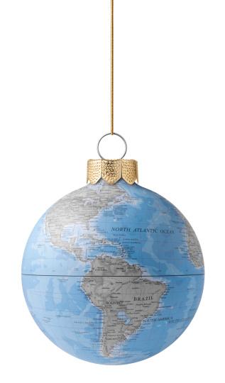 Evening Ball「Christmas ball with globe」:スマホ壁紙(7)