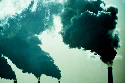 Problems「Smoke billowing from industrial smoke stacks」:スマホ壁紙(3)