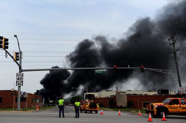 Exploding「Train Derailment Near Baltimore Causes Major Explosion」:写真・画像(3)[壁紙.com]