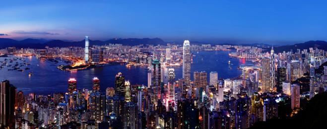 Victoria Peak「Amazing night view of Hong Kong bay in 2010」:スマホ壁紙(2)