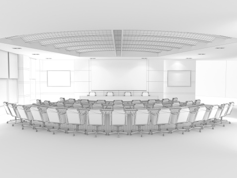 Press Room「3D Sketch architecture Modern conference room Classroom 2」:スマホ壁紙(17)