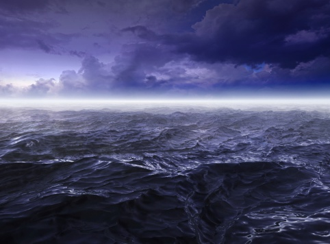 波「暗い嵐の海でのご宿泊」:スマホ壁紙(11)