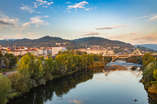 Camino De Santiago「Millennium Bridge over the Miño River at sunrise, Ourense, Galicia, Spain」:スマホ壁紙(9)