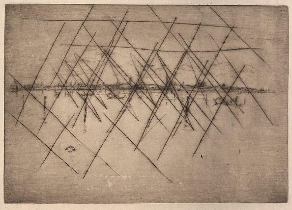 Etching「Little Venice. Creator: James Mcneill Whistler (American」:写真・画像(7)[壁紙.com]