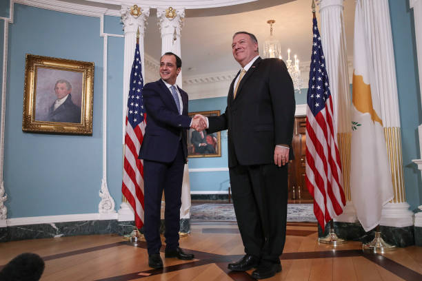 Secretary Of State Pompeo Meets With Cyrus Foreign Minister Christodoulides:ニュース(壁紙.com)