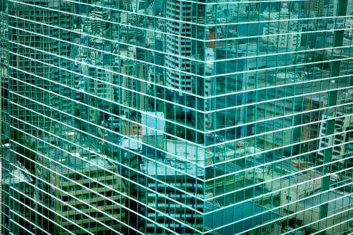 Corner「Cityscape reflected in glass windows, Shinjuku」:スマホ壁紙(9)
