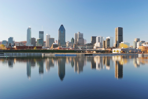 Montreal「Cityscape Reflection of Montreal City」:スマホ壁紙(6)