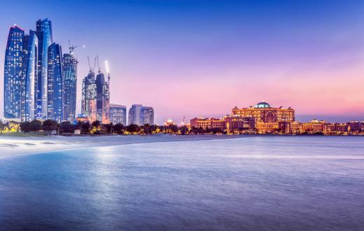夕焼け 海「アラビアご宿泊のお客様には、アブダビ(UAE )」:スマホ壁紙(3)