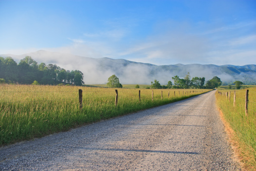 Great Smoky Mountains National Park「Cades Cove morning in the Smoky Mountains」:スマホ壁紙(10)