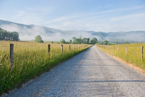 Wooden Post「Cades Cove morning in the Smoky Mountains」:スマホ壁紙(14)