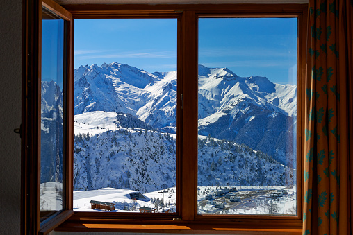 Ski Resort「L'Alpe d'Huez, french ski resort」:スマホ壁紙(11)