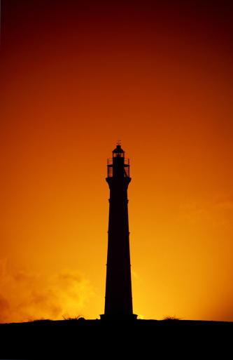 Beacon「Lighthouse silhouette, Aruba」:スマホ壁紙(1)