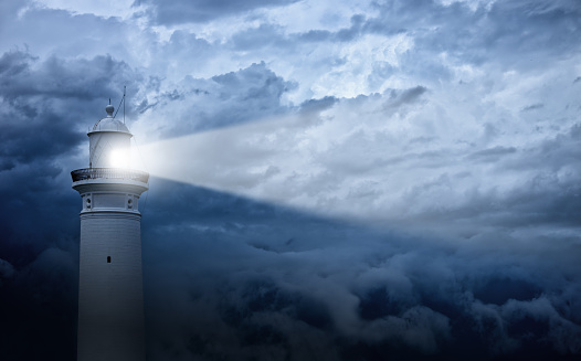 Success「Lighthouse and bad weather in background」:スマホ壁紙(18)