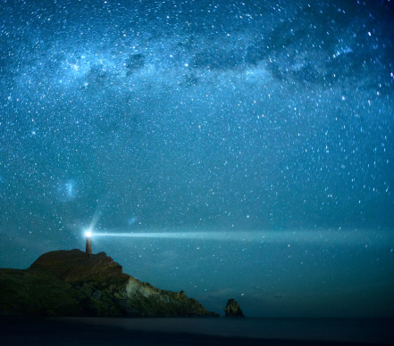 New Zealand「Lighthouse Under Milky Way stars」:スマホ壁紙(11)