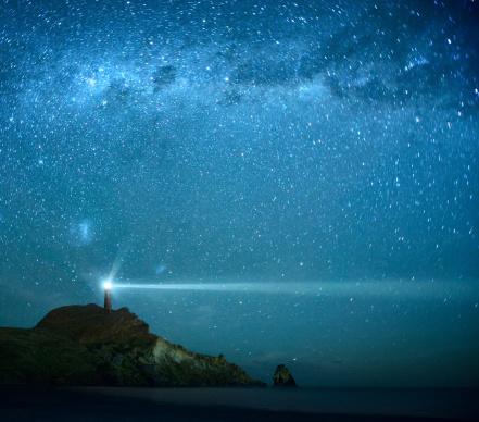 Fairy tale「Lighthouse Under Milky Way stars」:スマホ壁紙(10)