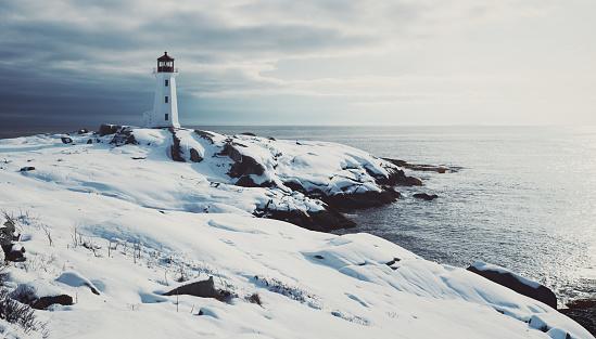 Fishing Village「Lighthouse in Fresh Snow」:スマホ壁紙(19)