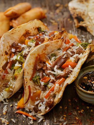 Basmati Rice「Asian/Mexican Fusion - Teriyaki Beef and Rice Tacos」:スマホ壁紙(7)