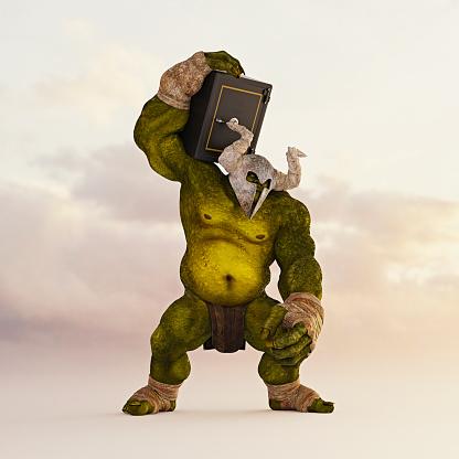 Shoulder「Giant green ogre carrying safe on shoulder」:スマホ壁紙(15)