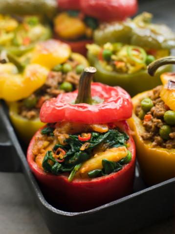 Basmati Rice「Bell Peppers stuffed with Keema Sag Aloo and Vegetable Pilau」:スマホ壁紙(10)