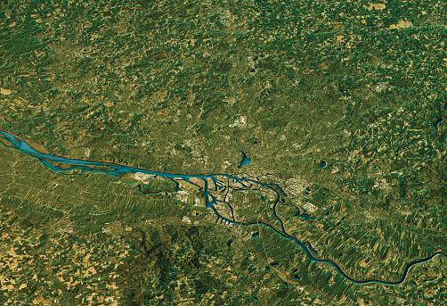 Digital Composite「Hamburg 3D Landscape View South-North Natural Color」:スマホ壁紙(17)