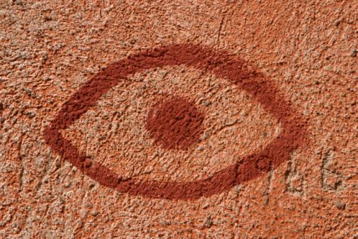 Eyesight「Eye painted on wall」:スマホ壁紙(8)