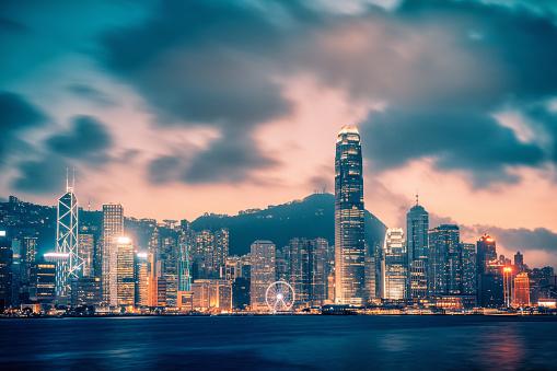 Victoria Peak「Cityscape Hong Kong at Twilight」:スマホ壁紙(6)