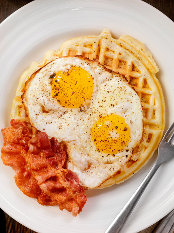 Waffled「Waffles with Fried Eggs and Bacon」:スマホ壁紙(13)