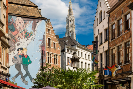 Belgium「Brussels, Street Cartoon Art」:スマホ壁紙(16)