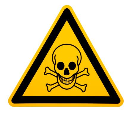 Poisonous「Skull and Crossbones Sign on White」:スマホ壁紙(5)