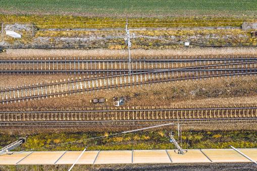 Railway「Railway aerial drone view」:スマホ壁紙(19)
