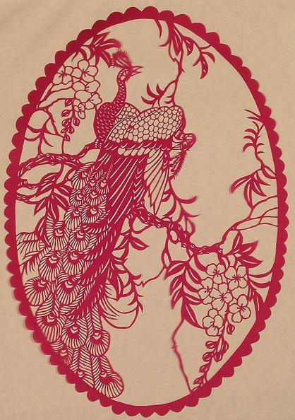 Dye「Chinese Folk Paper-Cuts with Peacock theme」:写真・画像(16)[壁紙.com]