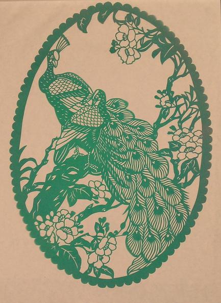 Dye「Chinese Folk Paper-Cuts with Peacock theme」:写真・画像(18)[壁紙.com]