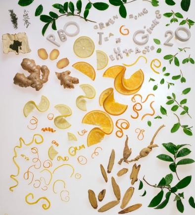 Ginger - Spice「Tea leaves , orange slices , and ginger」:スマホ壁紙(15)