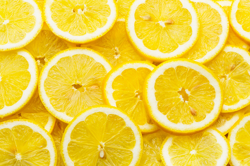 Vegetarian Food「Pile of fresh lemon slices」:スマホ壁紙(9)