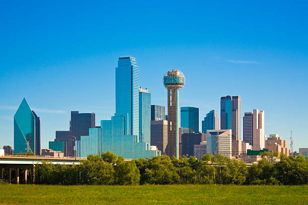Dallas city skyline, Texas:スマホ壁紙(壁紙.com)