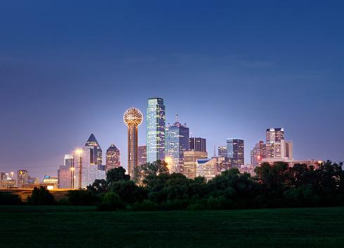 Urban Skyline「Dallas City Skyline」:スマホ壁紙(15)