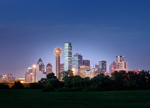 Texas「Dallas City Skyline」:スマホ壁紙(14)