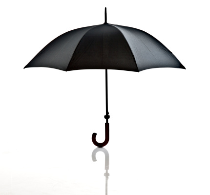 Black Color「black umbrella on white background」:スマホ壁紙(16)