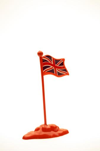 ユニオンジャック「Plastic toy British flag against white background, close-up」:スマホ壁紙(5)