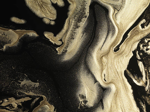 Glitter gold paint patterns on black background:スマホ壁紙(壁紙.com)