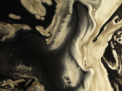 Glitter「Glitter gold paint patterns on black background」:スマホ壁紙(17)