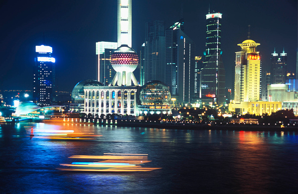 Long Exposure「Night vew of Pudong business district, Shanghai, China」:写真・画像(12)[壁紙.com]