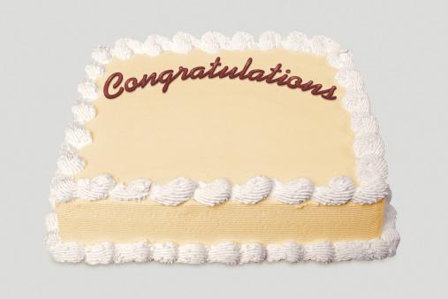 Congratulating「Sheet cake with congratulations written on it」:スマホ壁紙(12)