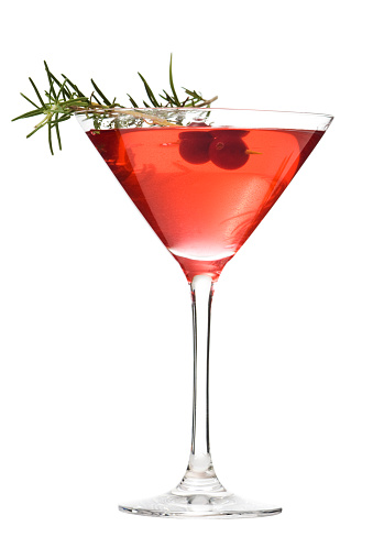 Martini「Martini Glass of Cosmopolitan Cocktail, Red Alcoholic Beverage on White」:スマホ壁紙(18)