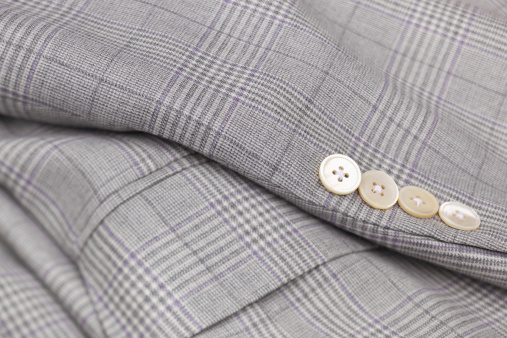 Tartan check「男性向けチェックの灰色のウールのスーツの」:スマホ壁紙(4)