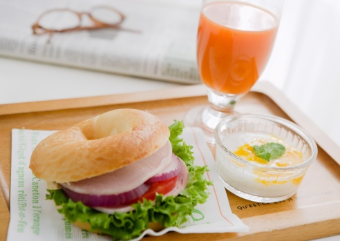 Vegetable Juice「Bagel Sandwich for breakfast」:スマホ壁紙(6)