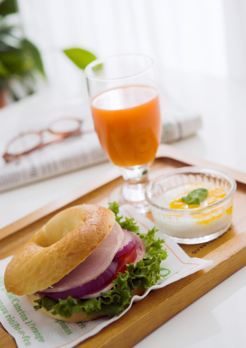 Vegetable Juice「Bagel Sandwich for breakfast」:スマホ壁紙(3)