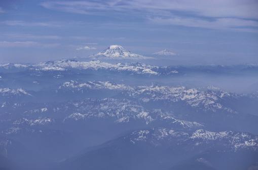 アダムス山「Mt. Adams, Washington and Mt. Hood, Oregon」:スマホ壁紙(19)