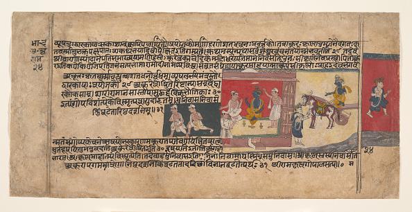 Ink「Page From A Dispersed Bhagavata Purana Manuscript」:写真・画像(6)[壁紙.com]